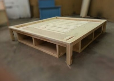 RECESSED PLATFORM BED with cubbies