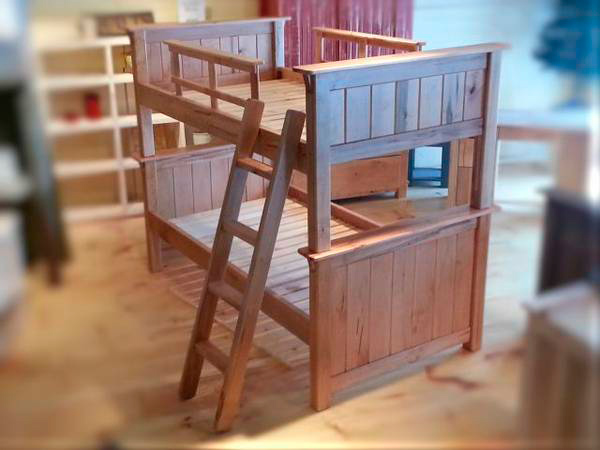 sturdy custom made bunk beds - the custom cottage